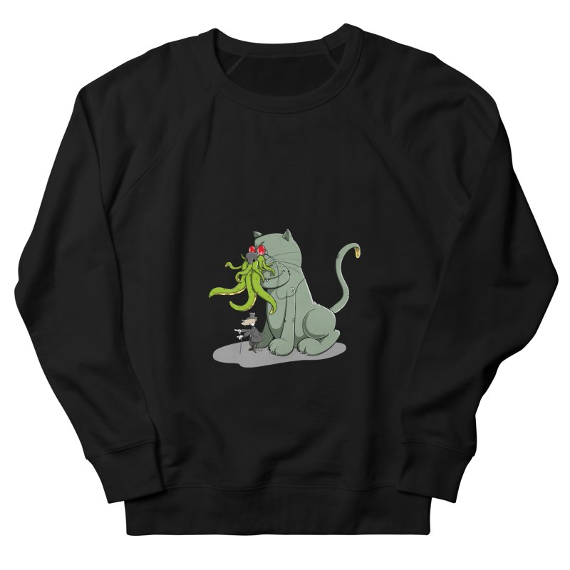 Mr Mousecraft and his faithful Friend Cathulhu Men's Sweatshirt by Illustrated Madness