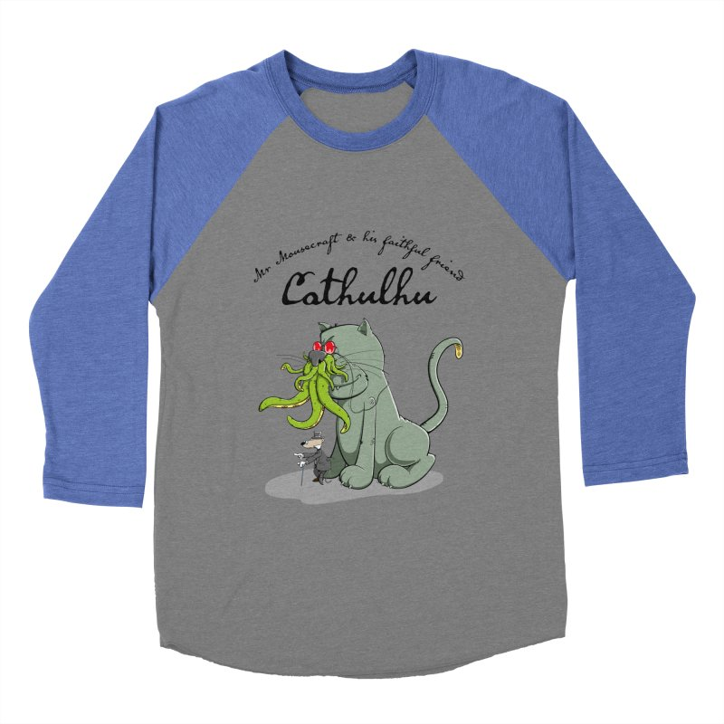 Mr Mousecraft and his faithful Friend Cathulhu Women's Baseball Triblend Longsleeve T-Shirt by Illustrated Madness