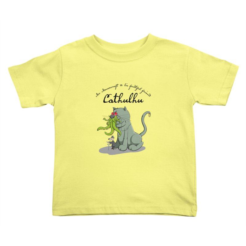 Mr Mousecraft and his faithful Friend Cathulhu Kids Toddler T-Shirt by Illustrated Madness