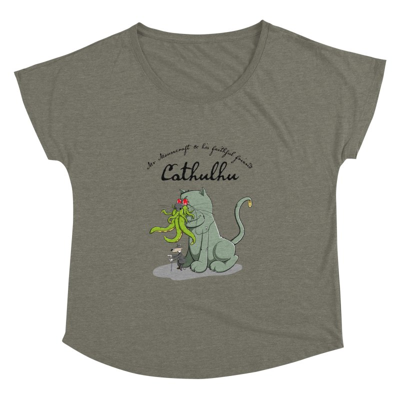 Mr Mousecraft and his faithful Friend Cathulhu Women's Dolman by Illustrated Madness