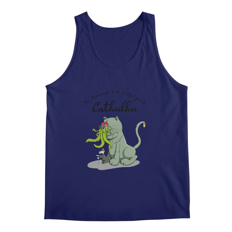 Mr Mousecraft and his faithful Friend Cathulhu Men's Tank by Illustrated Madness