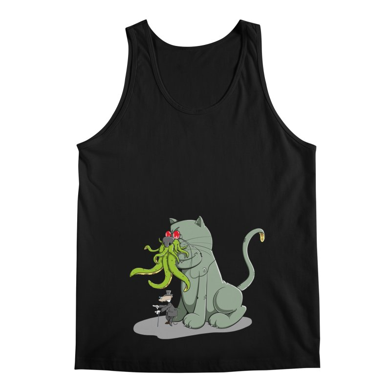 Mr Mousecraft and his faithful Friend Cathulhu Men's Regular Tank by Illustrated Madness