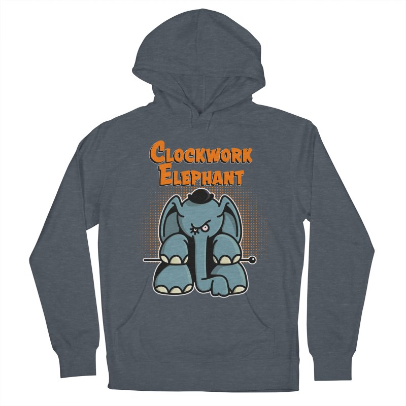 Clockwork Elephant Men's French Terry Pullover Hoody by Illustrated Madness