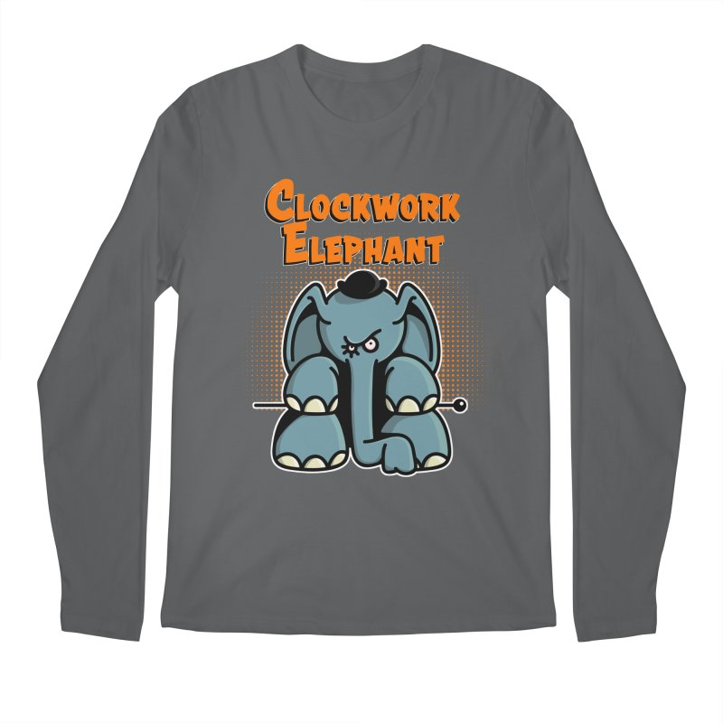 Clockwork Elephant Men's Regular Longsleeve T-Shirt by Illustrated Madness