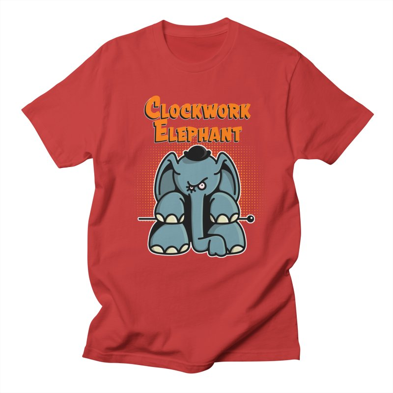 Clockwork Elephant Men's Regular T-Shirt by Illustrated Madness
