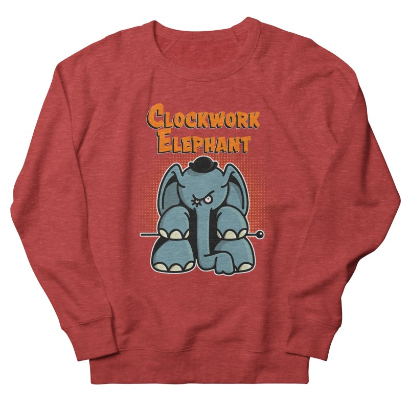 Clockwork Elephant Men's French Terry Sweatshirt by Illustrated Madness