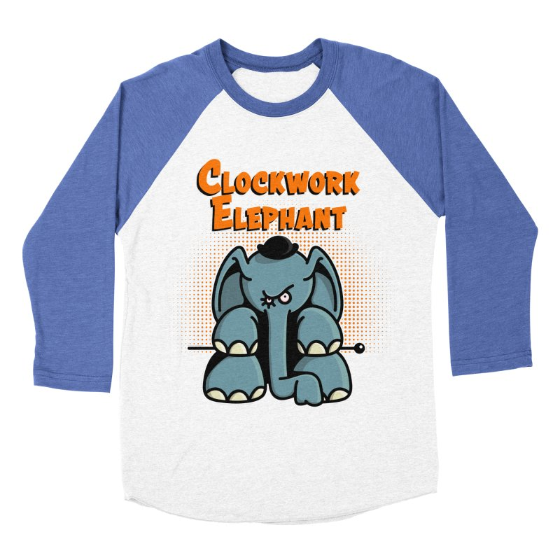 Clockwork Elephant Women's Baseball Triblend Longsleeve T-Shirt by Illustrated Madness