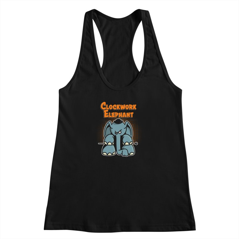 Clockwork Elephant Women's Racerback Tank by Illustrated Madness