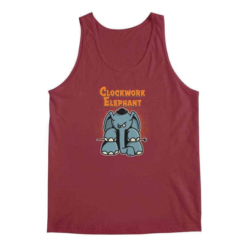 Clockwork Elephant Men's Tank by Illustrated Madness