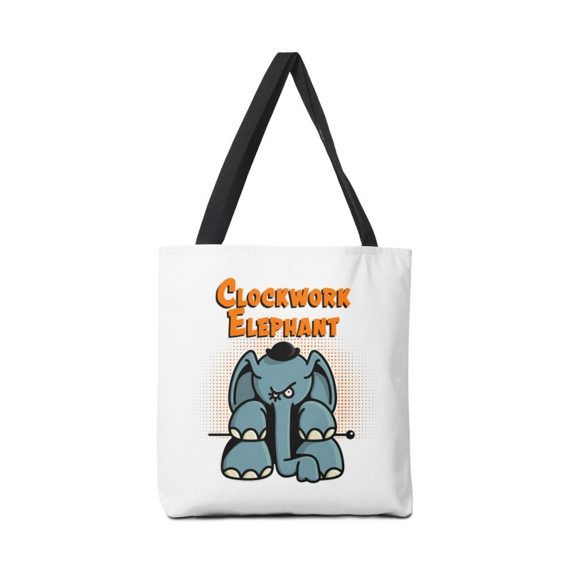 Clockwork Elephant Accessories Tote Bag Bag by Illustrated Madness
