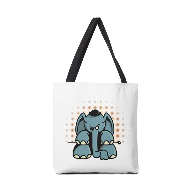 Crazy Elephant with Bowler Hat Accessories Tote Bag Bag by Illustrated Madness