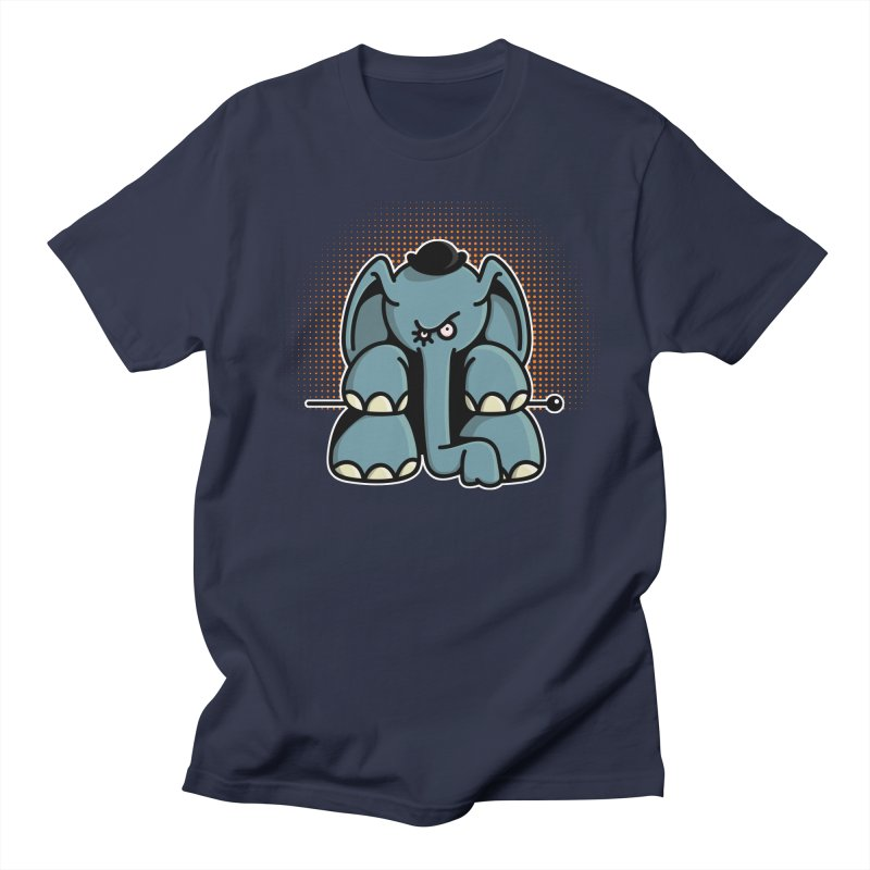 Crazy Elephant with Bowler Hat Men's T-Shirt by Illustrated Madness