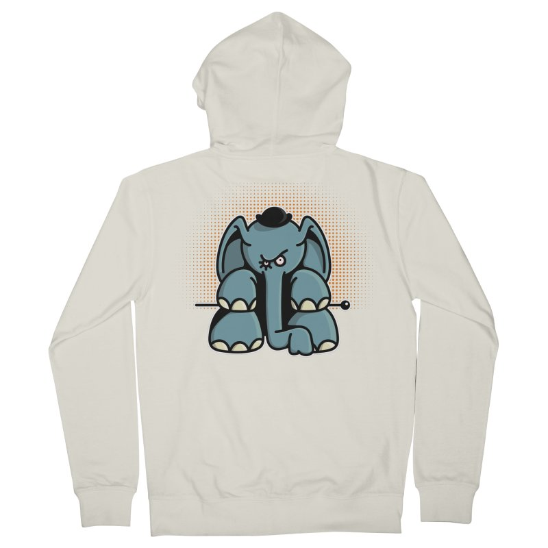 Crazy Elephant with Bowler Hat Women's French Terry Zip-Up Hoody by Illustrated Madness