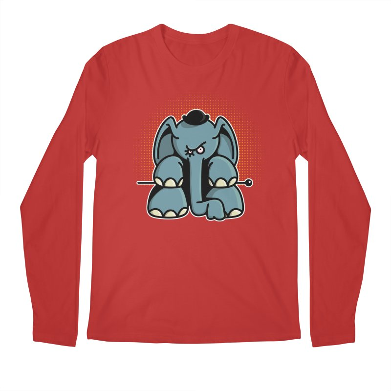 Crazy Elephant with Bowler Hat Men's Regular Longsleeve T-Shirt by Illustrated Madness