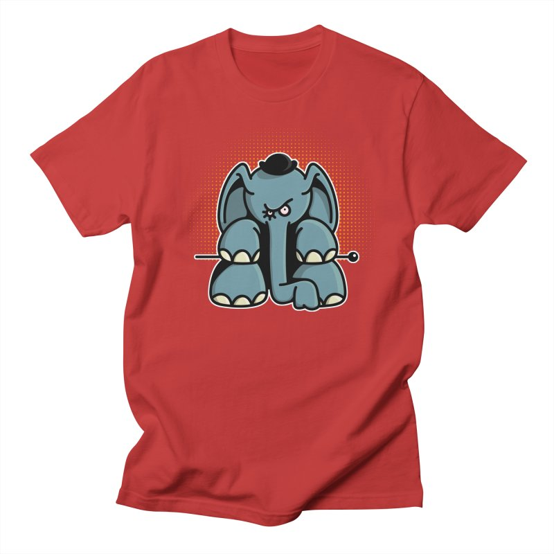 Crazy Elephant with Bowler Hat Men's Regular T-Shirt by Illustrated Madness