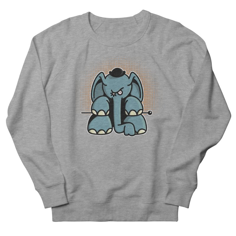 Crazy Elephant with Bowler Hat Women's French Terry Sweatshirt by Illustrated Madness
