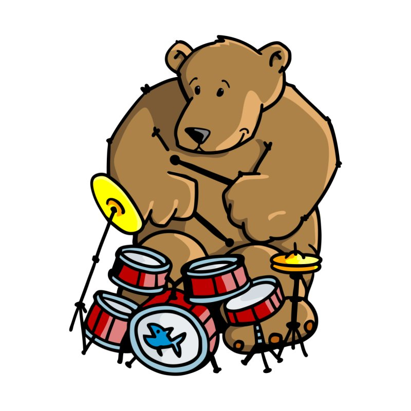 The Bear is a Drumming Bear by Illustrated Madness
