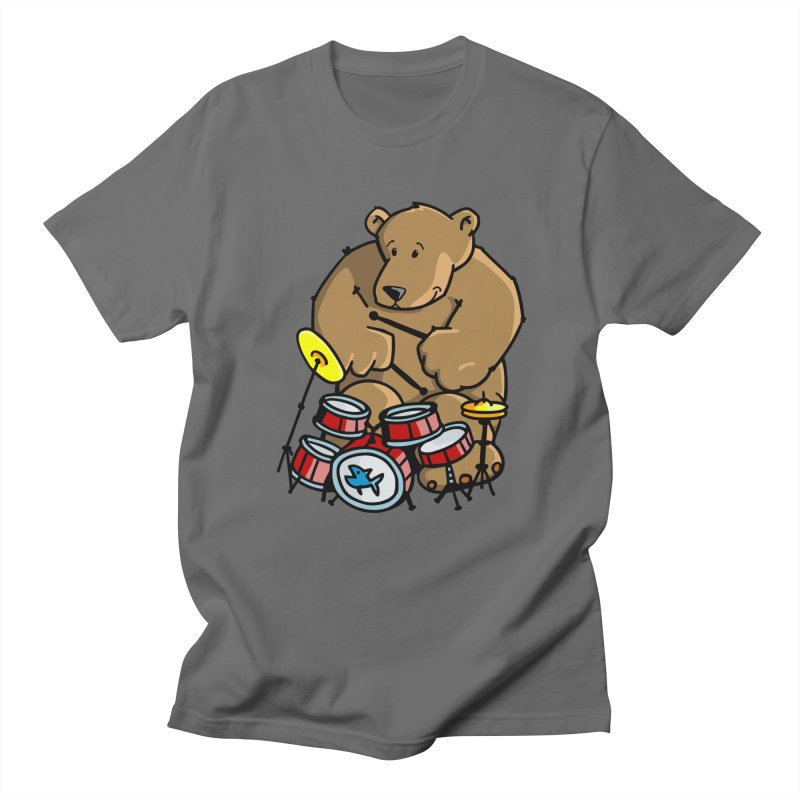 The Bear is a Drumming Bear Men's T-Shirt by Illustrated Madness