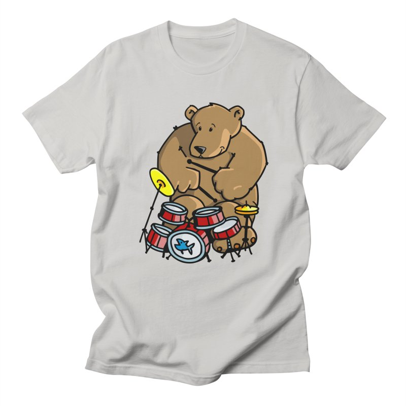 The Bear is a Drumming Bear Men's Regular T-Shirt by Illustrated Madness