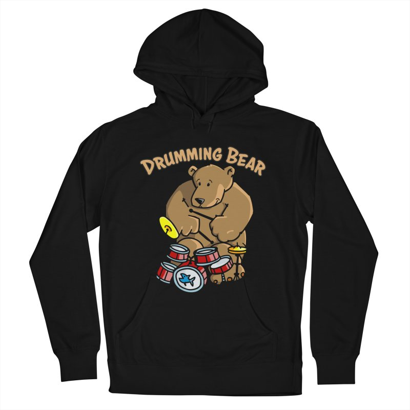 Drumming Bear plays a cool Rhythm Men's French Terry Pullover Hoody by Illustrated Madness