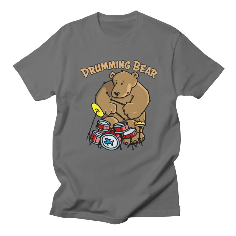 Drumming Bear plays a cool Rhythm Men's T-Shirt by Illustrated Madness