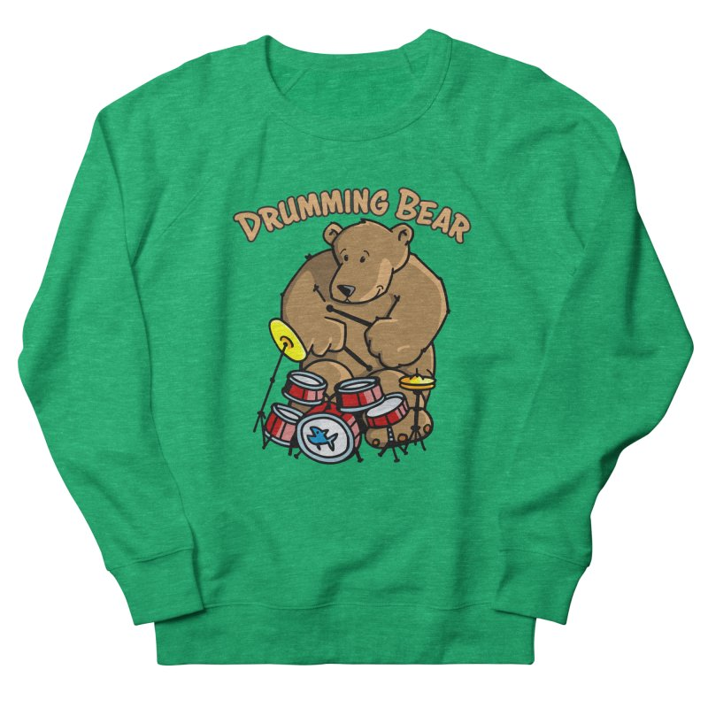 Drumming Bear plays a cool Rhythm Women's Sweatshirt by Illustrated Madness
