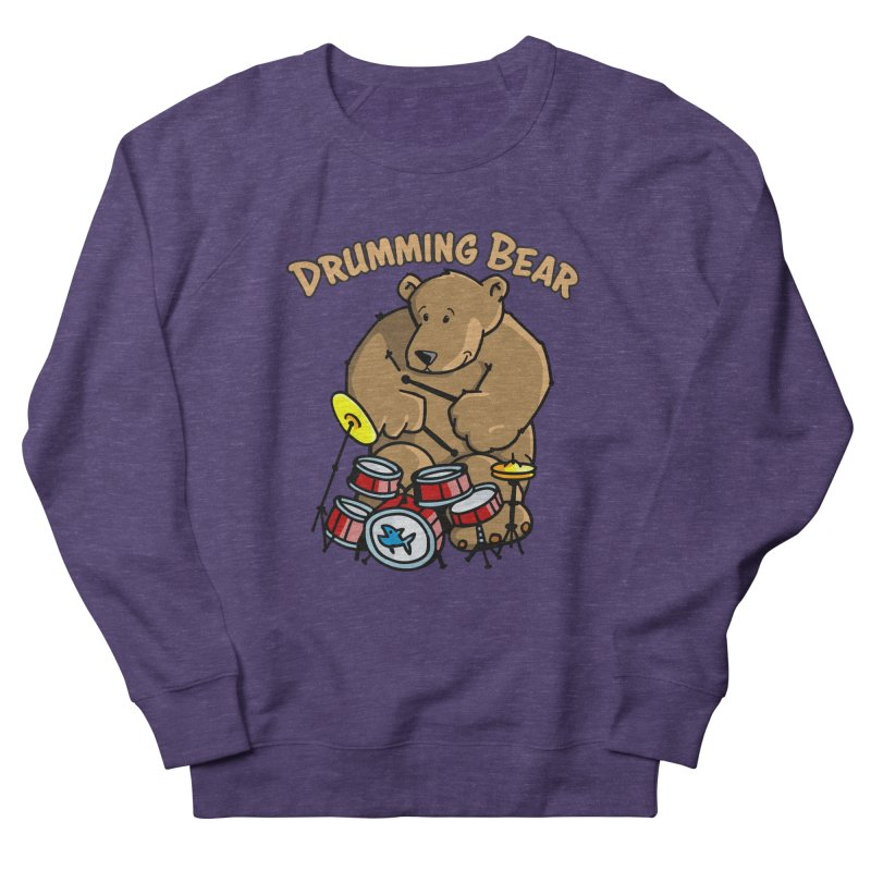 Drumming Bear plays a cool Rhythm Men's French Terry Sweatshirt by Illustrated Madness