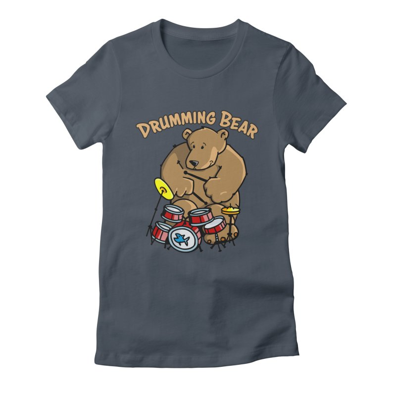 Drumming Bear plays a cool Rhythm Women's T-Shirt by Illustrated Madness