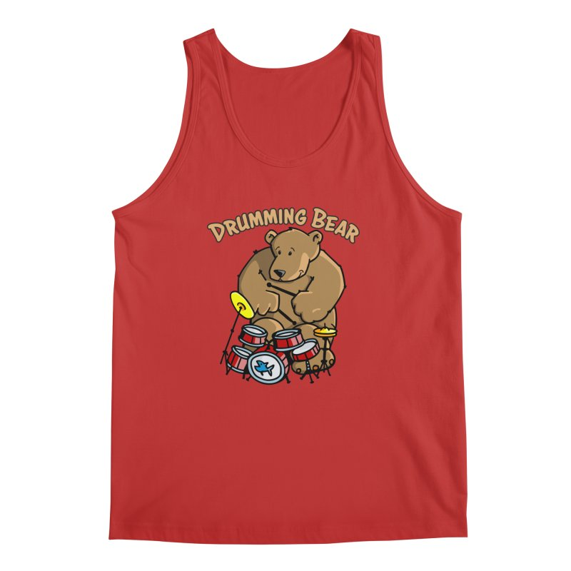 Drumming Bear plays a cool Rhythm Men's Regular Tank by Illustrated Madness