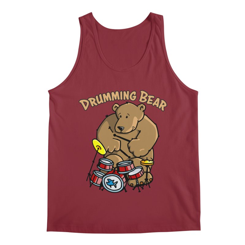Drumming Bear plays a cool Rhythm Men's Tank by Illustrated Madness