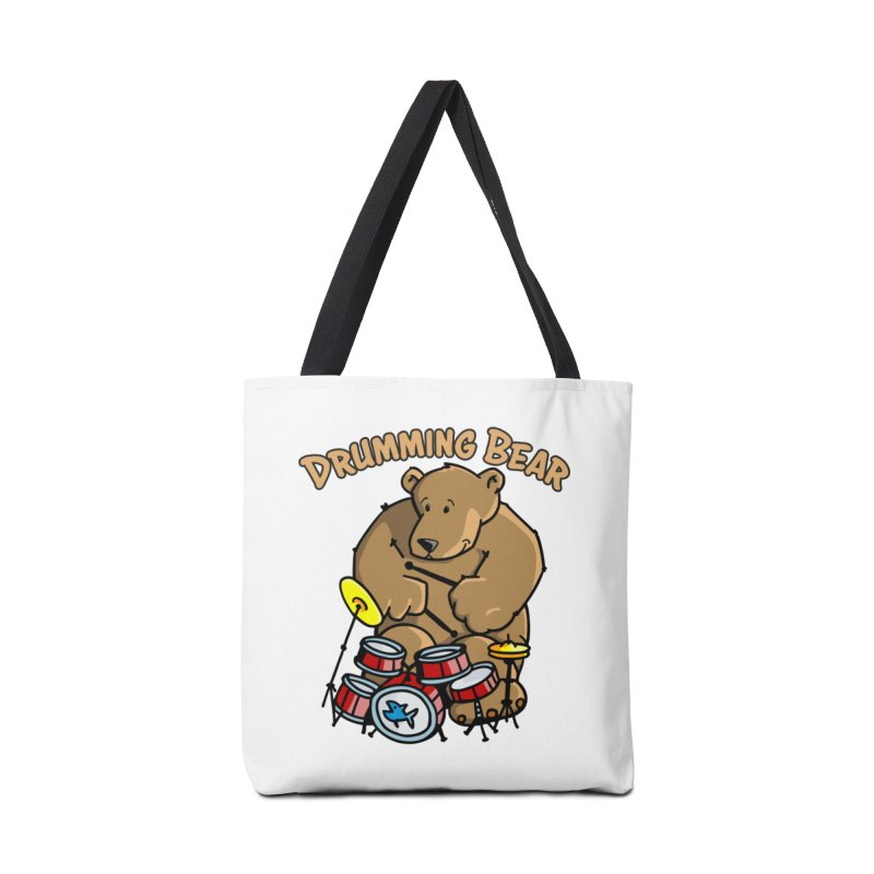 Drumming Bear plays a cool Rhythm Accessories Tote Bag Bag by Illustrated Madness