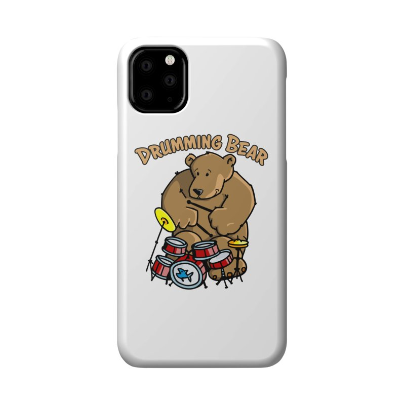 Drumming Bear plays a cool Rhythm Accessories Phone Case by Illustrated Madness
