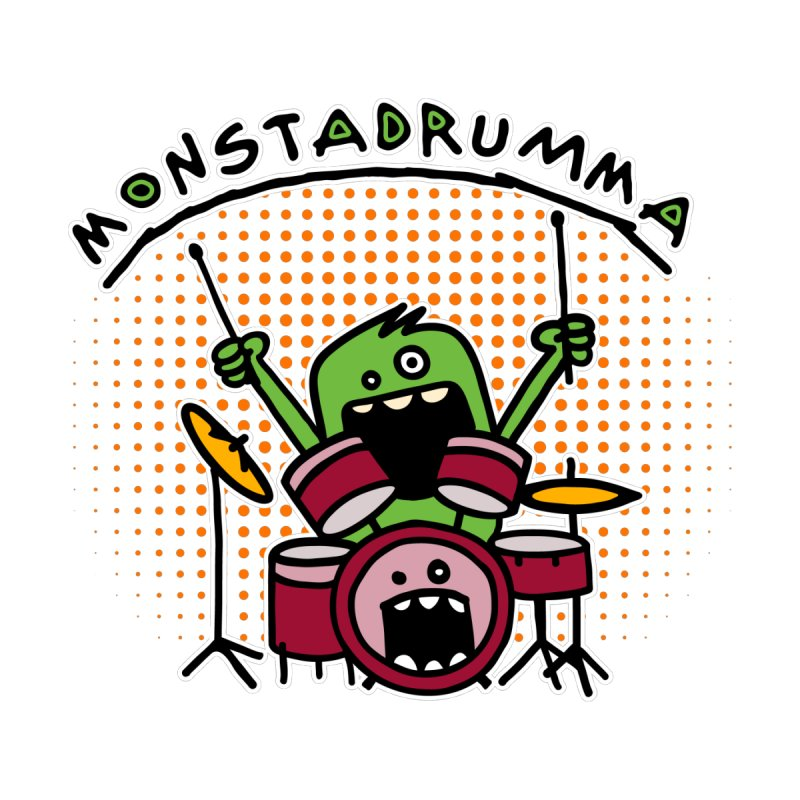 Monster Drummer Men's T-Shirt by Illustrated Madness