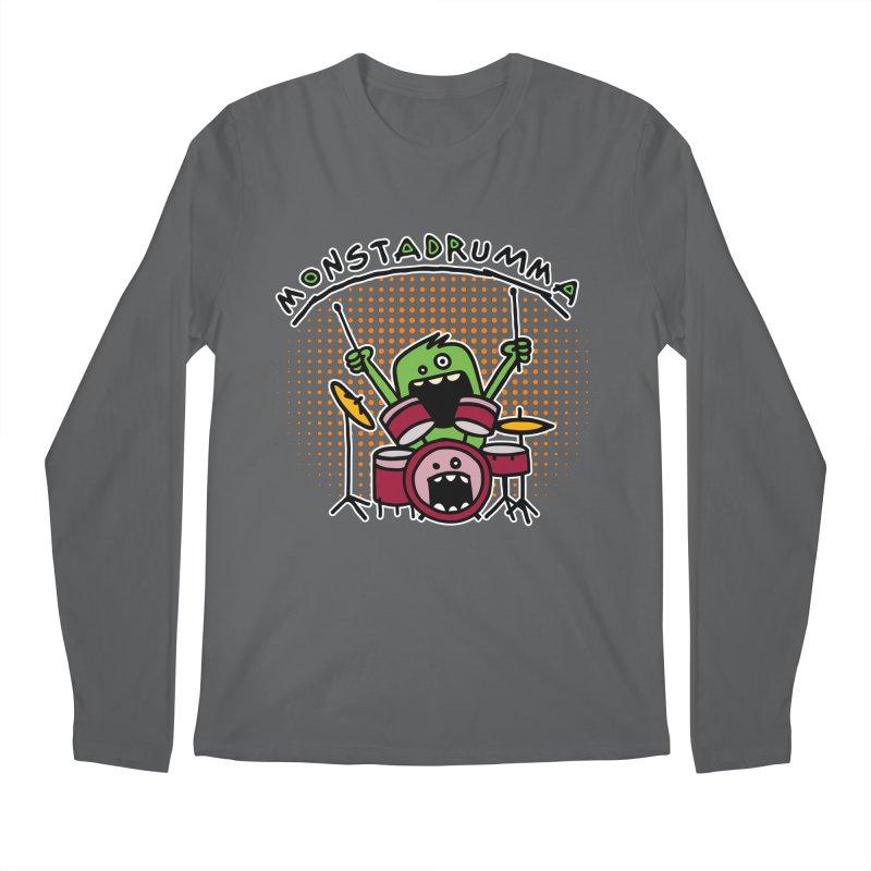 Monster Drummer Men's Longsleeve T-Shirt by Illustrated Madness