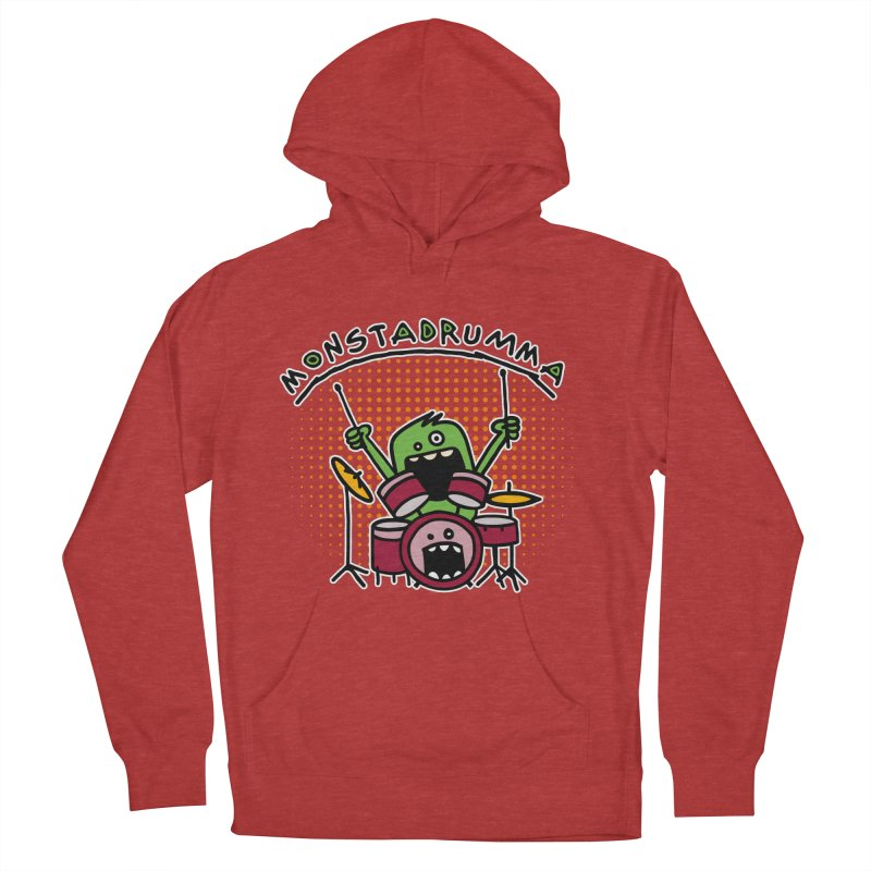 Monster Drummer Women's French Terry Pullover Hoody by Illustrated Madness