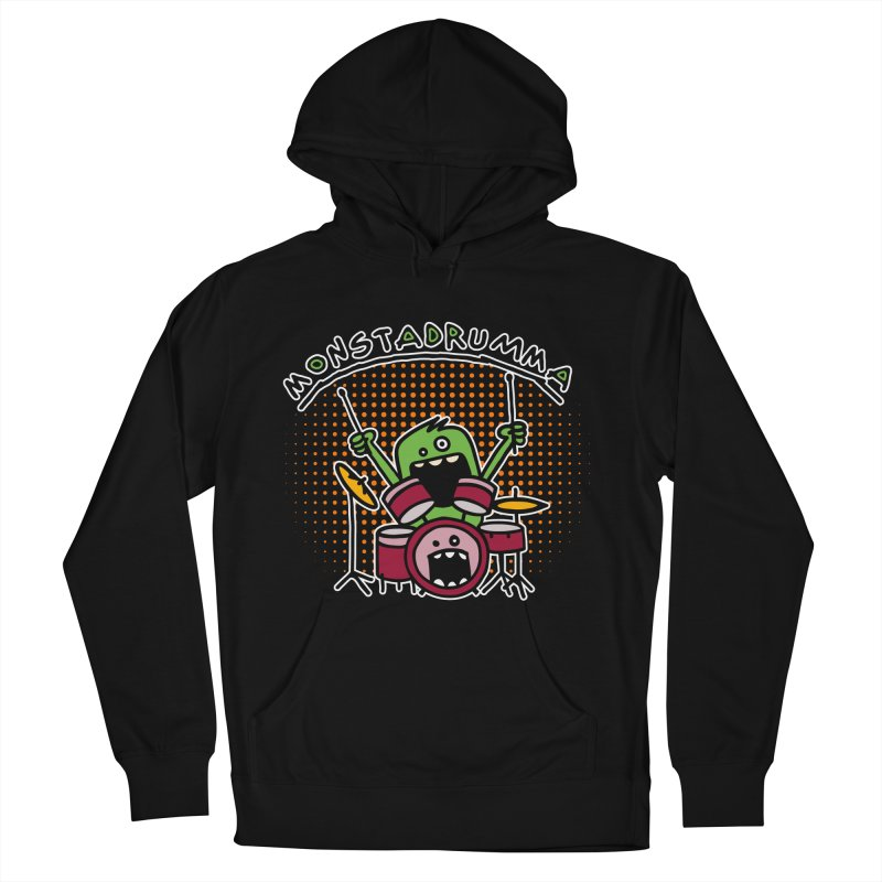 Monster Drummer Women's Pullover Hoody by Illustrated Madness