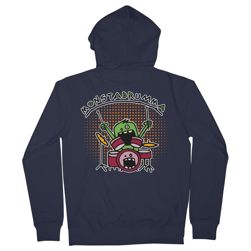 Monster Drummer Women's Zip-Up Hoody by Illustrated Madness
