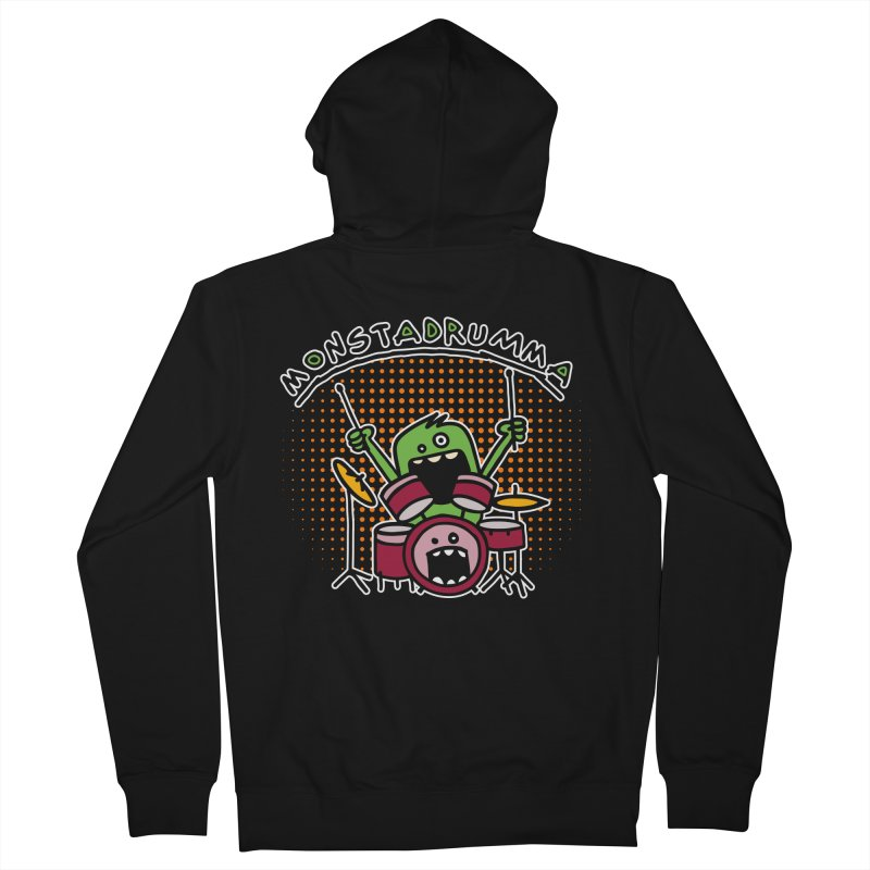 Monster Drummer Men's Zip-Up Hoody by Illustrated Madness
