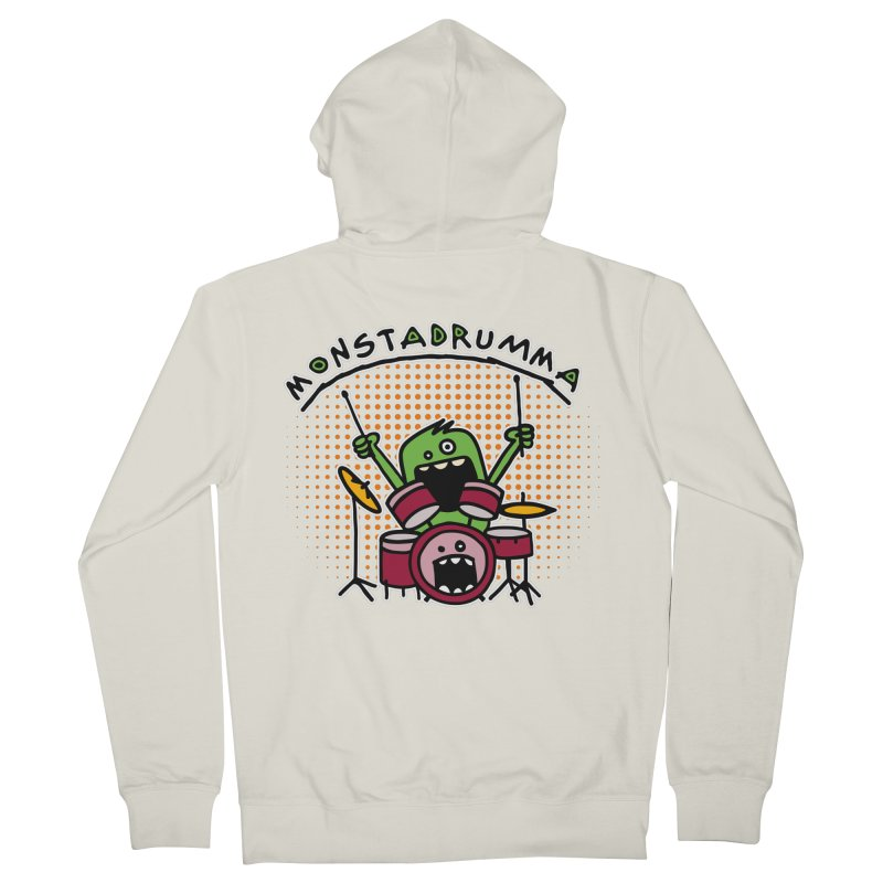 Monster Drummer Men's French Terry Zip-Up Hoody by Illustrated Madness