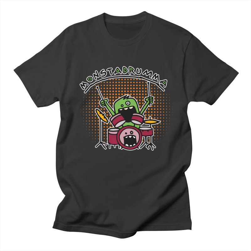 Monster Drummer Women's Unisex T-Shirt by Illustrated Madness