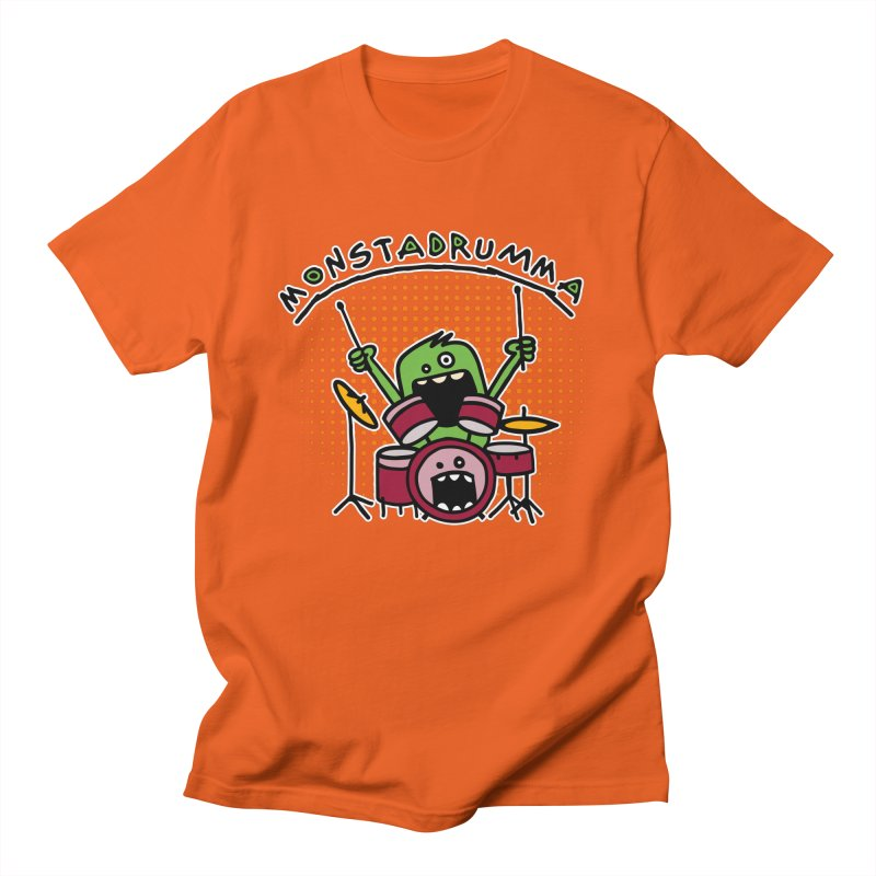 Monster Drummer Women's Regular Unisex T-Shirt by Illustrated Madness