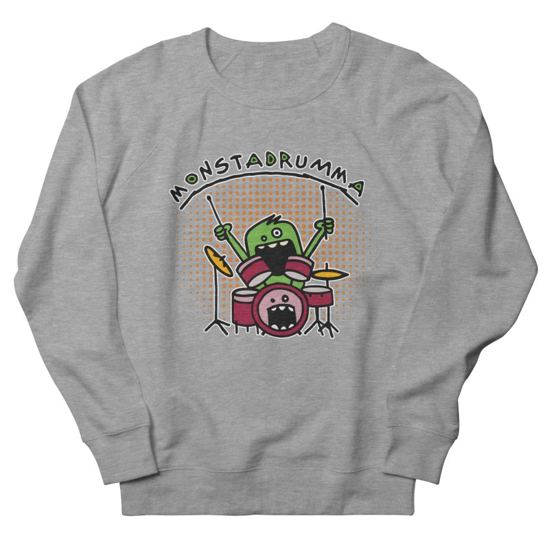 Monster Drummer Women's Sweatshirt by Illustrated Madness
