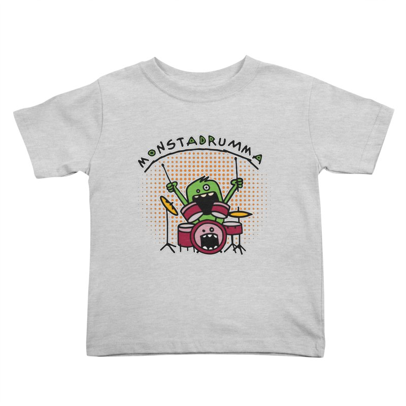 Monster Drummer Kids Toddler T-Shirt by Illustrated Madness