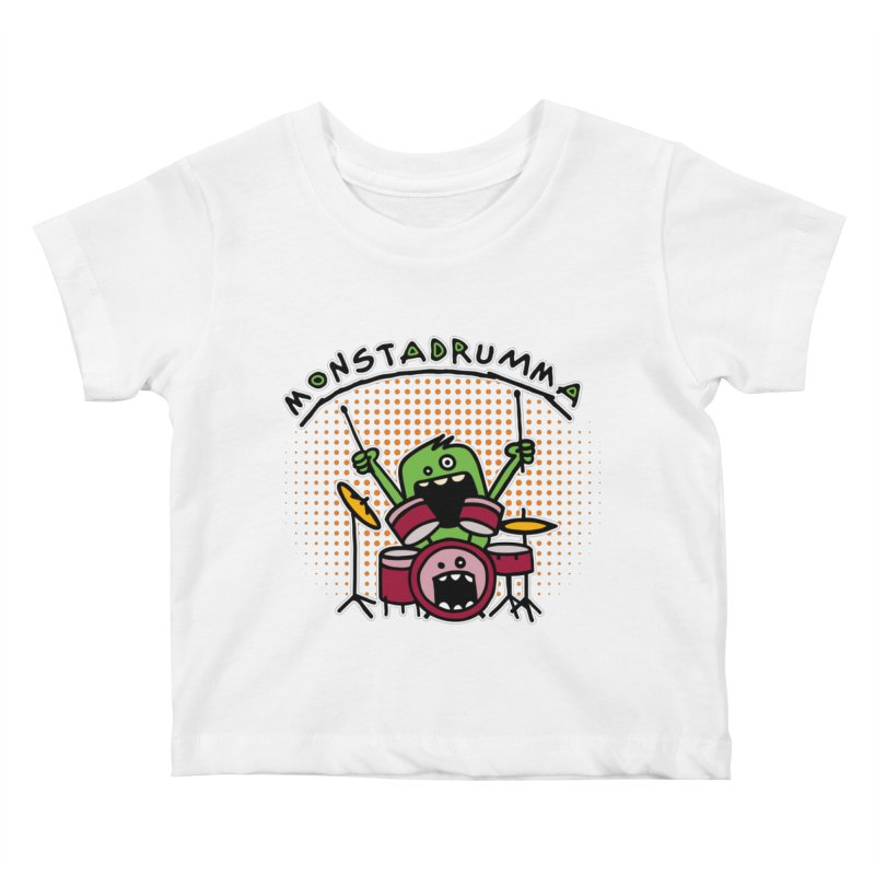 Monster Drummer Kids Baby T-Shirt by Illustrated Madness