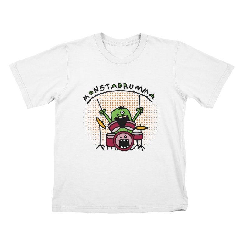 Monster Drummer Kids T-Shirt by Illustrated Madness
