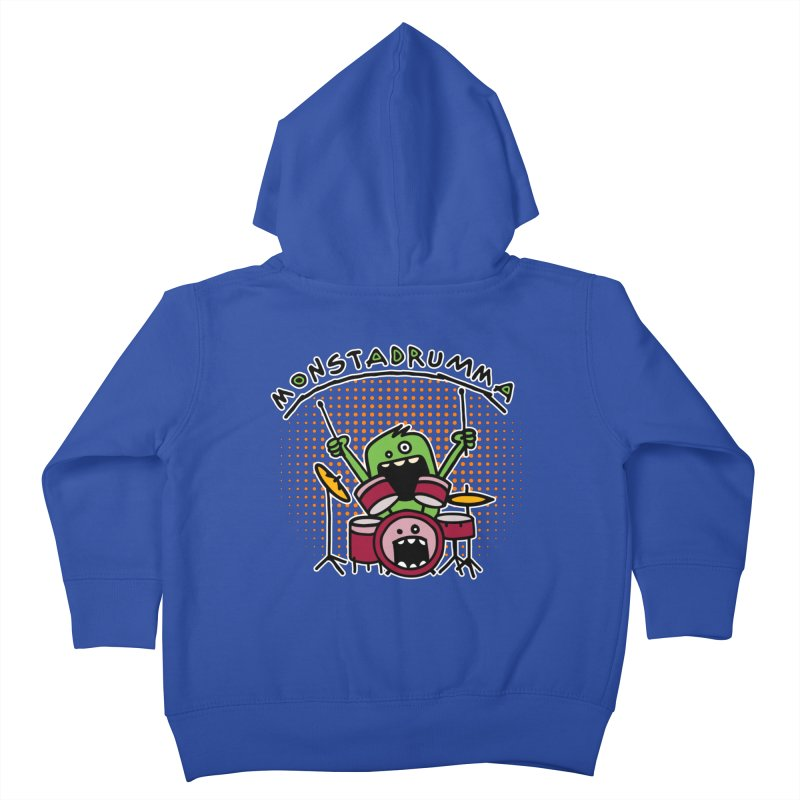 Monster Drummer Kids Toddler Zip-Up Hoody by Illustrated Madness