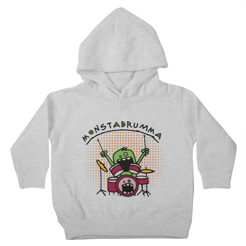Monster Drummer Kids Toddler Pullover Hoody by Illustrated Madness