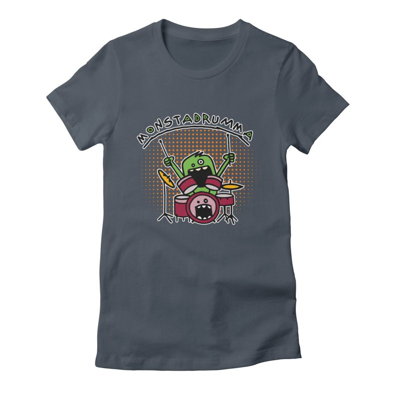 Monster Drummer Women's T-Shirt by Illustrated Madness
