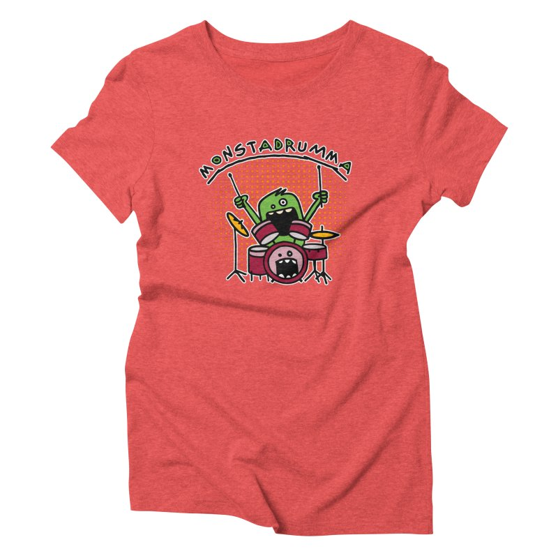 Monster Drummer Women's Triblend T-Shirt by Illustrated Madness