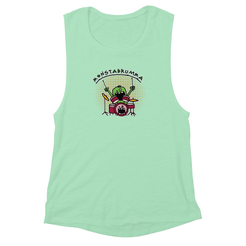 Monster Drummer Women's Muscle Tank by Illustrated Madness